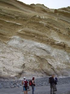 faulted sedimentary layers (normal faults), Mejillones, Chile 2005